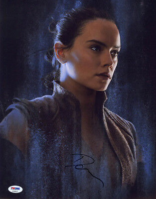Daisy Ridley Signed 11X14 Photo Rey Star Wars The Last Jedi Psa Dna Autographed