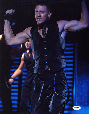 Channing Tatum Signed 11X14 Photo Magic Mike Sexy Stripper Psa Dna Autographed