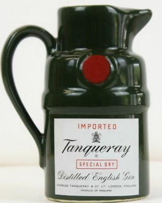 Vintage Tanqueray Gin Ceramic Cocktail Pitcher or Bar Jug Collectible