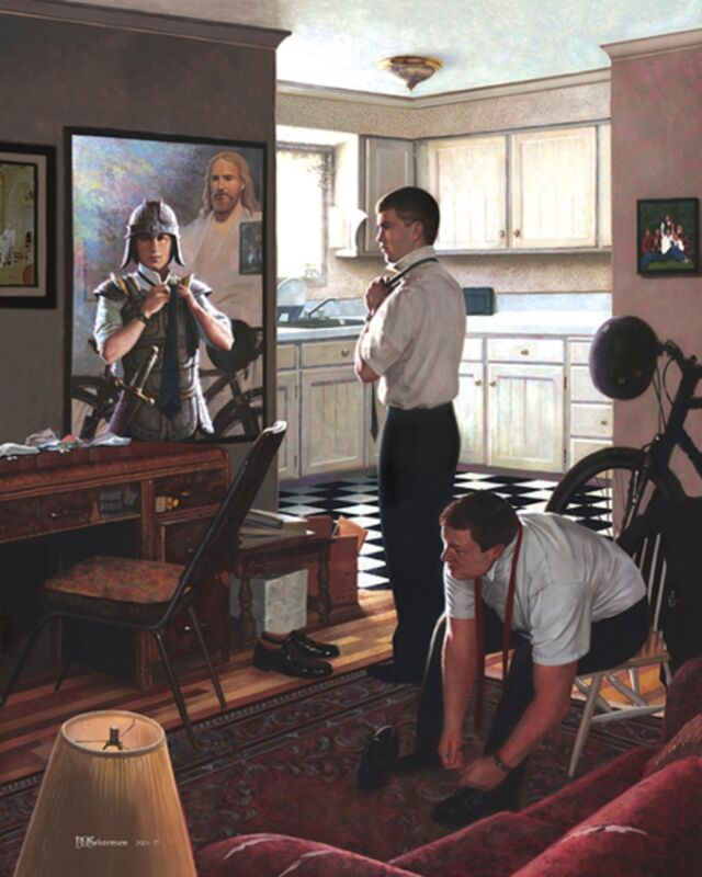 THE HARVEST LDS MORMON MISSIONARY FIELD WORK D/&C 4 PAINTING ART CANVAS GICLEE