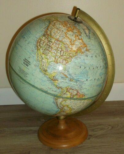 NATIONAL GEOGRAPHIC 12 INCH DIAMETER WORLD GLOBE