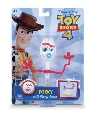 Toy Story 4 Disney Pixar Forky With Wacky Action Pull N Go Figure *New