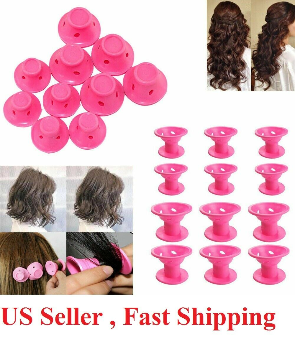 30PCS Magic Hair Curlers Rollers Silicone No Clip Formers Styling Curling Tool Hair Care & Styling