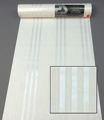 Vliestapete 13111-10 P+S Tapete Struktur Streifen weiß creme 1311110 Ahaus
