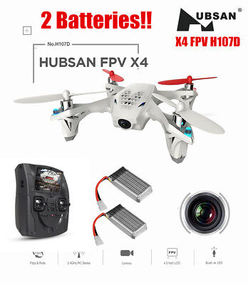 Hubsan X4 H107D FPV Drone RC Quadcopter 480P HD Camera 5.8G 6Axis,2 Batteries US
