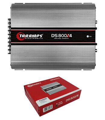 Taramps DS800X4 Gama completa 2 Ohms 800W 4 Canal Clase D Amplificador de audio para automóvil
