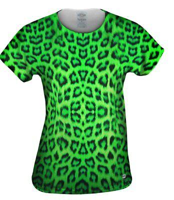Yizzam- Neon Green Leopard Animal Skin - New Womens Top Shirt Tshirt XS S M L X
