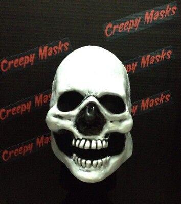 Creepy Skull Face mask Clown Prop Replica Halloween jason freddy Skeletor Purge