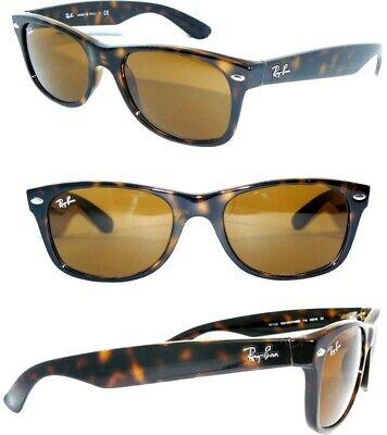 Ray Ban 2132 Sonnenbrille BRAUN 710 B-15 NEW WAYFARER ORIGINAL 2151 RB 2140 ETUI