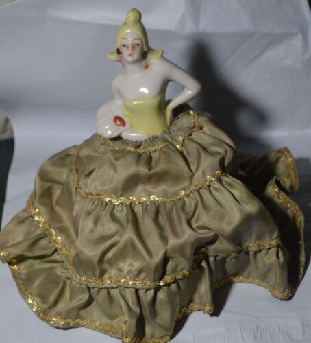 Vintage Pin Cushion Doll Art Deco Petal Dutch Hat Arms Out