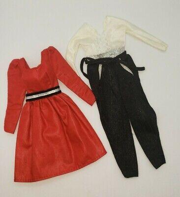 Vintage Barbie 80s Best Buy Superstar Red Dress Black White Jumpsuit VHTF Lot