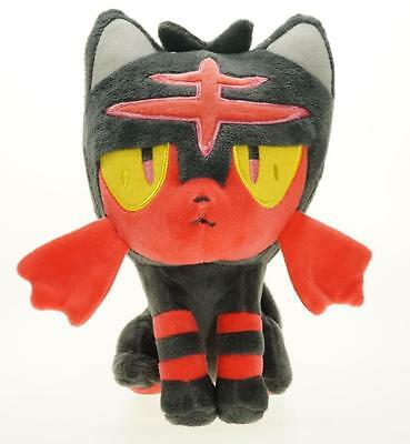 "Starter Pokemon Sun Moon 7"" Litten Plush Toy Soft Stuffed Animal Doll Gift"