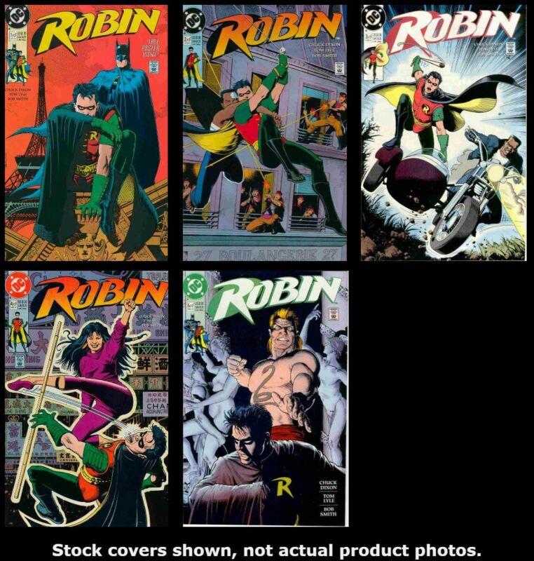 Robin (Mini-Series) 1 2 3 4 5 DC 1990 Complete Set Run Lot 1-5 VF/NM