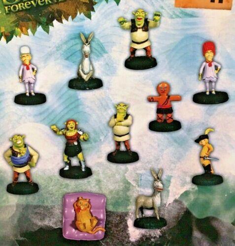 """Shrek Forever After Figurines full set 11 Toy Vending 2"""" Capsules NEW Dreamworks"""