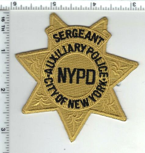 Police Auxiliary Sergeant Bicycle Unit Cap/Hat Patch