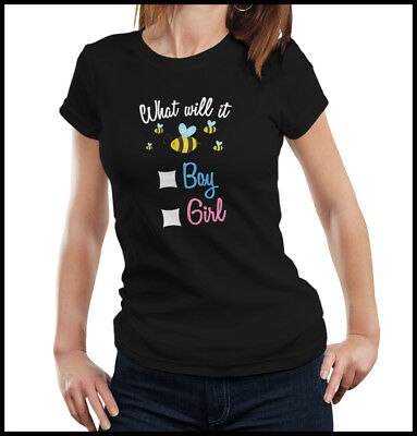 Reveal Gender Ideas (Gender Reveal Party Shirt, What Will it Bee - Boy or Girl?, Gender Reveal)