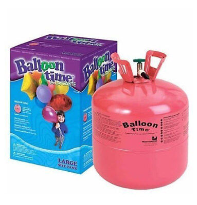 Balloon Time Disposable Jumbo Helium Tank, 50 Balloons included.