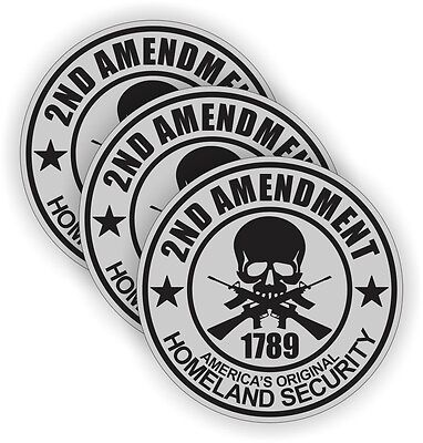 2nd Amendment Hard Hat Stickers Welding Motorcycle Usa Helmet Decals 3-pack