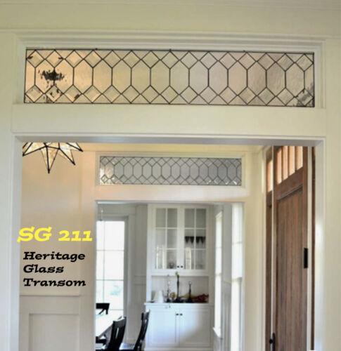Genuine handcrafted Leaded Glass Transom windows