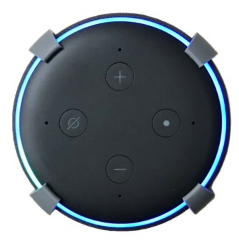 SturdyGrip™ Wall Mount / Ceiling Mount for Amazon Echo Dot 3rd Gen (Grey)