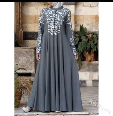 Dubai Kaftan Women Long Dress Muslim Abaya Belt Party Loose Maxi Robe Jilbab New