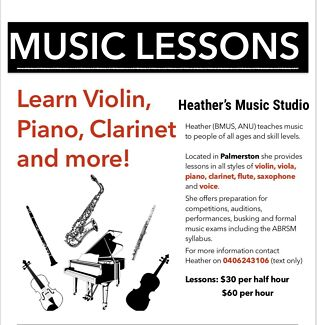 Music Lessons! Learn Violin, Piano , Clarinet and more!