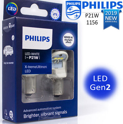 PHILIPS P21W LED White 1156 X-tremeUltinon LED gen2 Car signalling Bulbs 6000 K