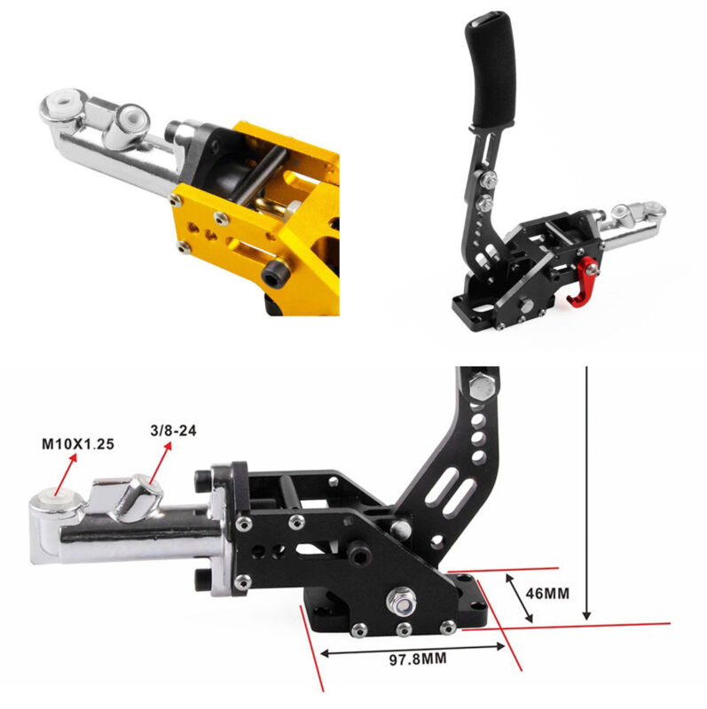 1 Set Racing Car Hydraulic Handbrake Track or Drifting Hand Brake Black Aluminum
