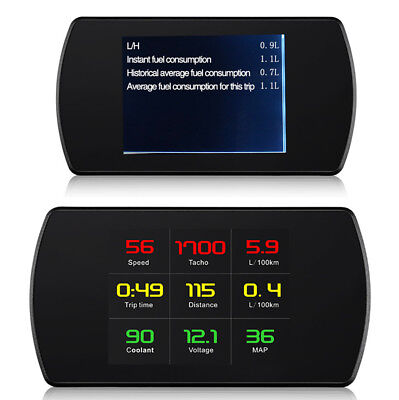 Usado, 1x Car Dashboard OBD2 HUD Head Up Display Alarm System Speed RPM Voltage Display comprar usado  Enviando para Brazil