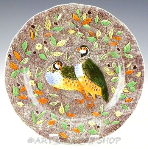 "Gien France RAMBOUILLET 10-1/4"" PARTRIDGE BIRDS DINNER PLATE"