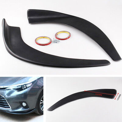 2Pcs Car Front Bumper Splitters Diffuser with Accessoriess Scratch Resistant ABS
