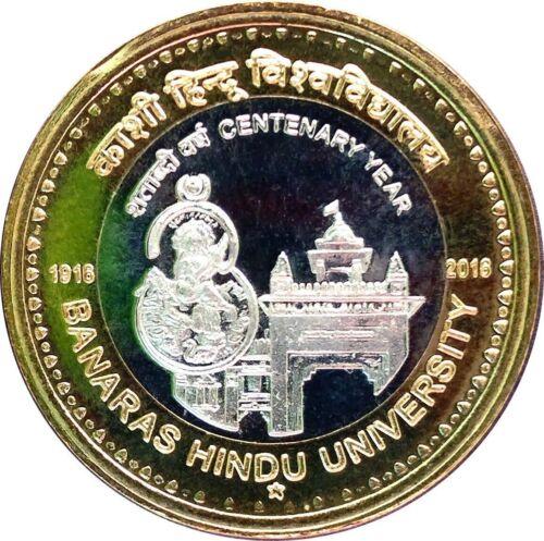 India Rs 10, Commemorative UNC Coin on *Banaras Hindu Centenary, 2016*