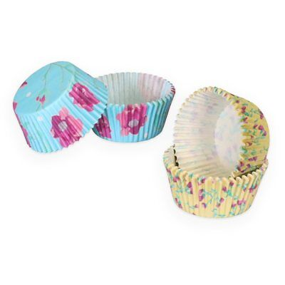 Fanci Baking 60 ct Paper Cupcake Liners / Cases - Fancy Floral