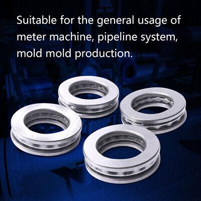 4pcs Axial Ball Thrust Bearing 3 Parts 10mm X 24mm X 9mm 51100