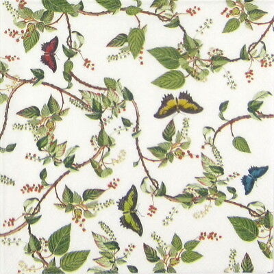 4x Paper Napkins - Butterfly Paradise - for Party, Decoupage Craft ()