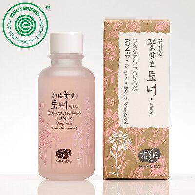 Whamisa Natural Fermentation Organic Flowers Skin Toner - Deep Rich / 120ml EWG