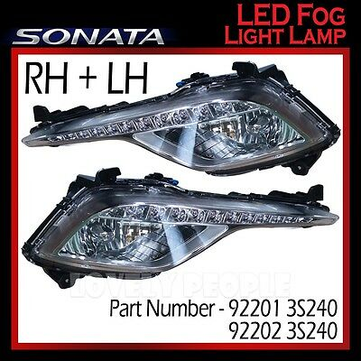 Genuine OEM LED Fog Light Lamp LH & RH Set (with DRL) for Hyundai Sonata 2013