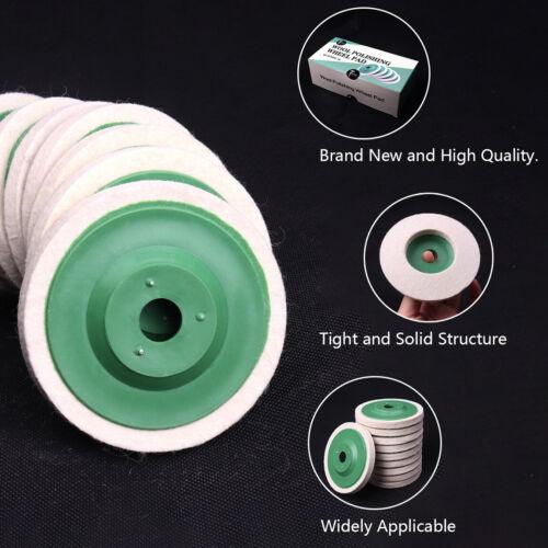 10Pcs 100mm 4 Inch Wool Buffing Wheel Felt Polishing Disc Pad For Angle Grinder