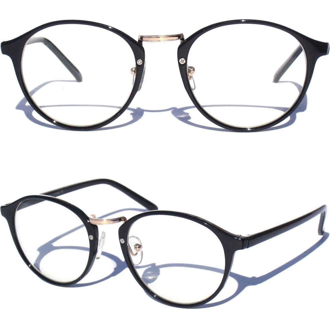 TRANSPARENT FRAME CLEAR LENS GLASSES Rounded Hipster Retro Smart Nerd Retro New