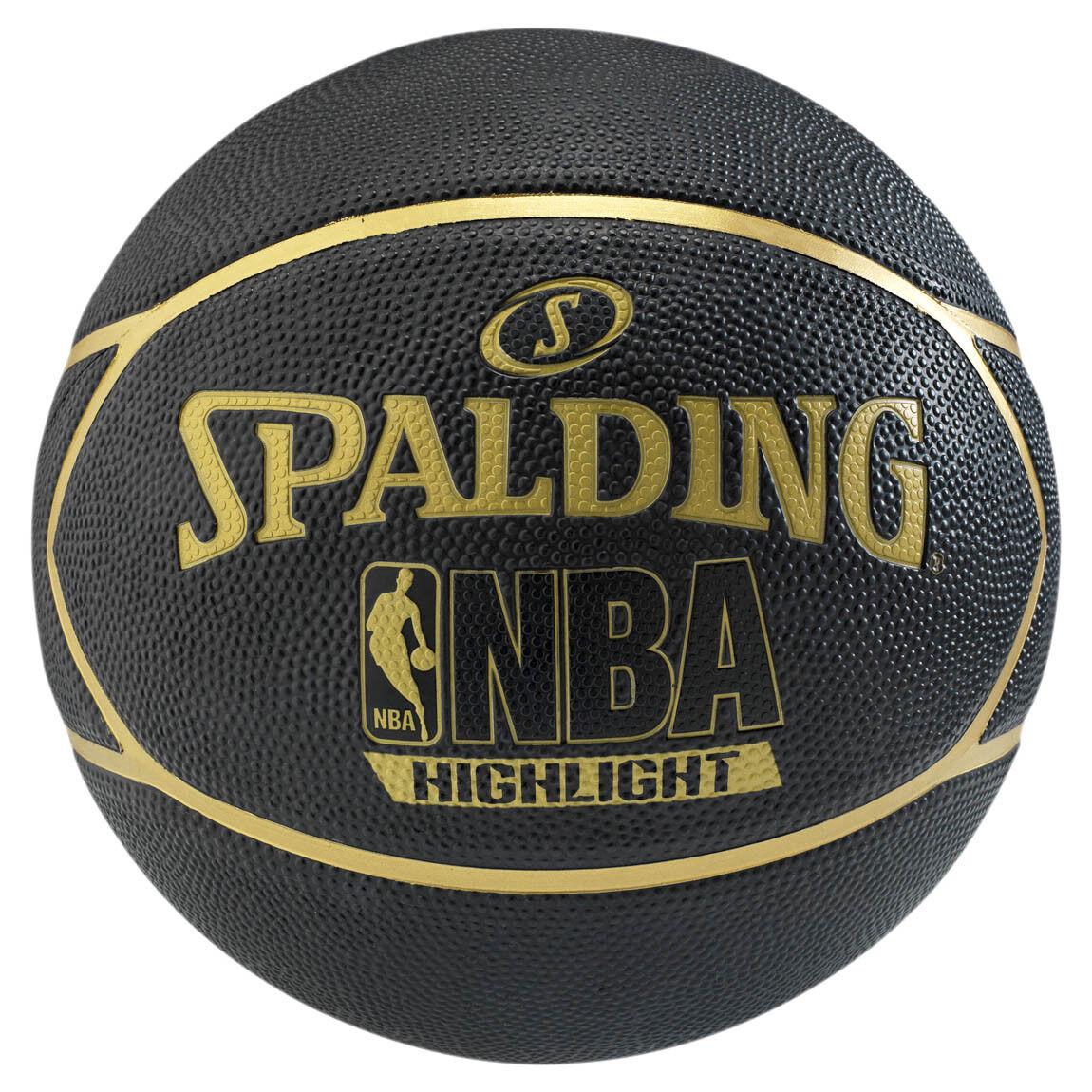 Spalding Basketball NBA Highlight Outdoor Streetbasketball schwarz/gold Größe 7