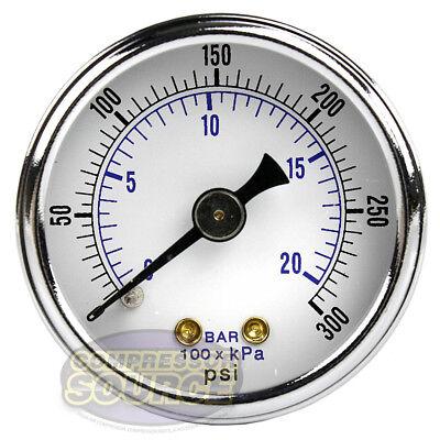 18 Npt Air Pressure Gauge 0-300 Psi Back Mount 1.5 Face