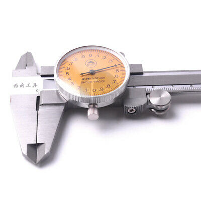 """6pc BRAND NEW  0-6/"""" STAINLESS STEEL DIAL CALIPER"""