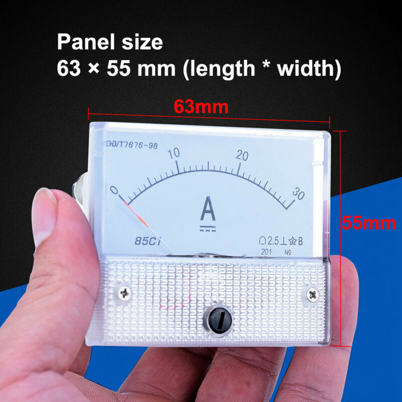 Analog Ammeter Panel 30A DC AMP Current  Meter Doesn