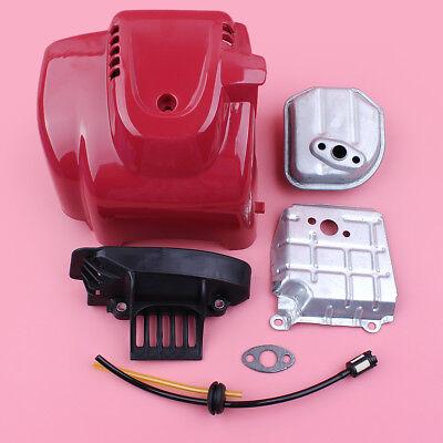 (Top Engine Cover Shroud Exhaust Muffler Kit For Honda GX35 GX35NT HHT35S Engine)