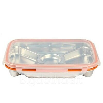 STENLOCK Stainless Steel Rectangle #4 Airtight Lunch Box Food Storage Container