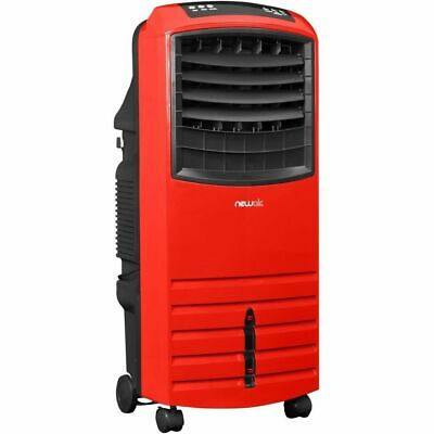 Red Evaporative Air Cooler w/ Built-In Purifier Filter, Portable Swamp Home Fan