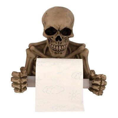 Totenkopf Toilettenpapierhalter 19 x 20 cm Skull Gothic Dekoration Bad Zubehör