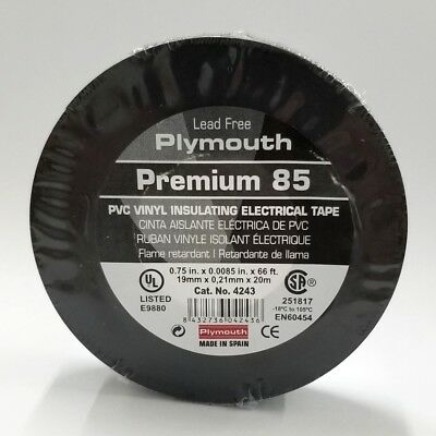 Plymouth Rubber Premium 85 4243 34 X 66ft Roll Of Vinyl Insulating Tape 600v