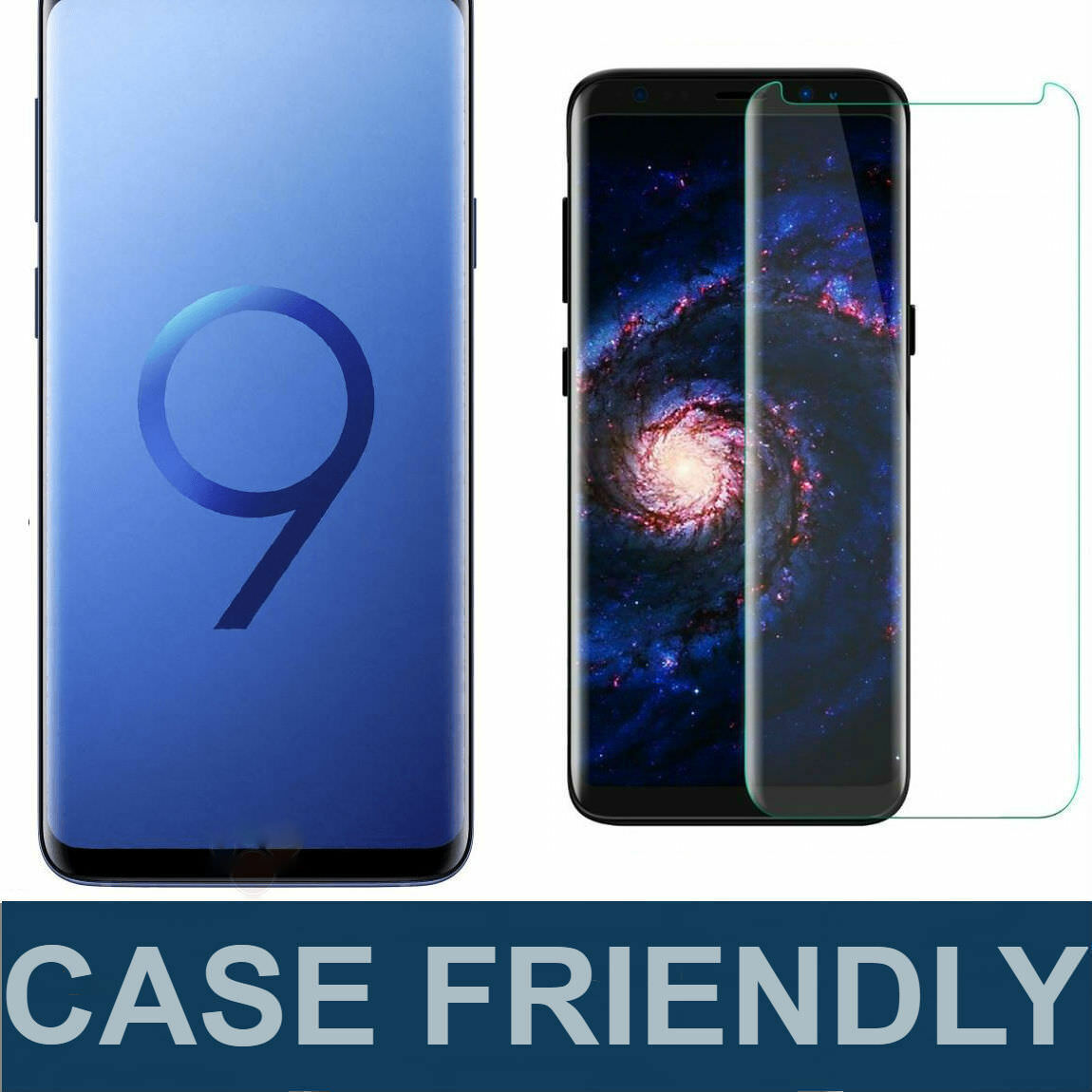 Details about S-Tech Case Friendly Tempered Glass Screen Protector For  Samsung Galaxy S9 /Plus