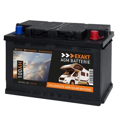 AGM Solarbatterie 100Ah 12V Wohnmobil Versorgung Boot Solar Batterie Gel Akku Marine Batterie